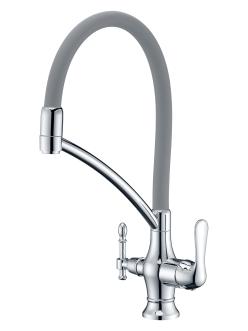 Смеситель для кухни Aksy Bagno TL-18023 Хром с переключателем на питьевую воду