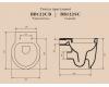 BelBagno Sabrina BB122CB – Унитаз приставной, P-trap, сиденье-микролифт BB120SC