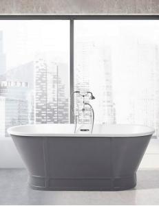 BelBagno BB35-CF36 Ванна отдельностоящая 168х78 см, серый-матовый
