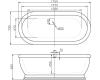 BelBagno BB03 Ванна отдельностоящая 176х79 белый