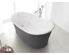 BelBagno BB32-CF36 Ванна отдельностоящая 168х90, Серый матовый