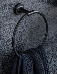 Duravit Starck T 0099474600 Полотенцедержатель - кольцо, черный