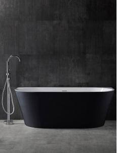 Abber AB9216-1.7B Ванна акриловая пристенная 170х80 см, черный