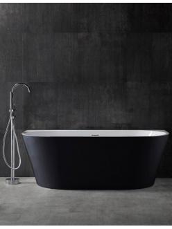 Abber AB9216-1.7MB  Ванна акриловая пристенная, 170х80 см, черный матовый