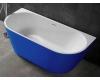 Abber AB9216-1.7DB  Ванна акриловая пристенная, 170х80 см, синий