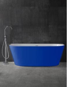 Abber AB9216-1.7DB Ванна акриловая пристенная 170х80 см, синий