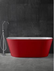 Abber AB9216-1.7R Ванна акриловая пристенная 170х80 см, красный
