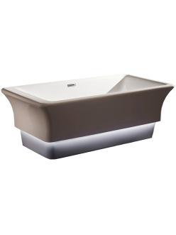 Abber AB9221 Ванна акриловая отдельностоящая, 168х85 см, белая с подсветкой