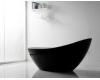 Abber AB9233B Ванна акриловая отдельностоящая, 184х79 см, черный