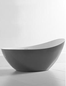 Abber AB9233G Ванна акриловая отдельностоящая 184х79 см, серый