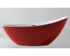 Abber AB9233R Ванна акриловая отдельностоящая, 184х79 см, красный
