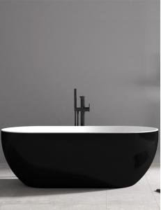 Abber AB9241B Ванна акриловая отдельностоящая 172х79 см, черный