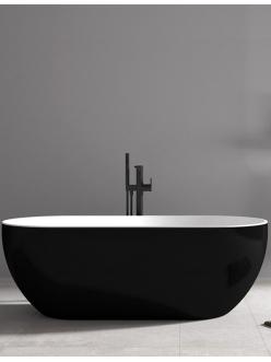 Abber AB9241B Ванна акриловая отдельностоящая, 172х79 см, черный