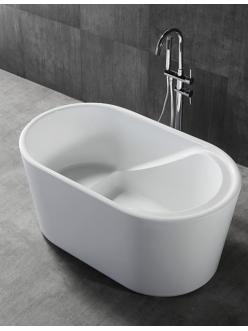 Abber AB9277 Ванна акриловая отдельностоящая, 130х75 см, белый