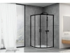 Abber Schwarzer Diamant AG01080B Душевой уголок с раздвижными дверьми