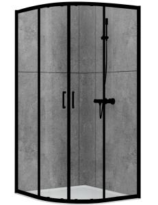 Abber Schwarzer Diamant AG01080B Душевой уголок 80х80 см с раздвижными дверьми