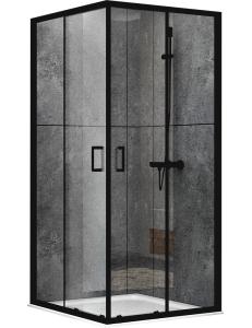 Abber Schwarzer Diamant AG02080B Душевой уголок 80х80 см с раздвижными дверьми