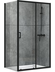 Abber Schwarzer Diamant AG30100B-S100B Душевой уголок 100х100 см с раздвижной дверью