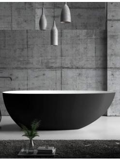 Abber AB9211MB Ванна акриловая отдельностоящая, 170х80 см, черный матовый
