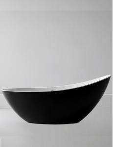 Abber AB9233MB Ванна акриловая отдельностоящая 184х79 см, черный матовый