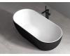 Abber AB9241MB Ванна акриловая отдельностоящая, 172х79 см, черный матовый