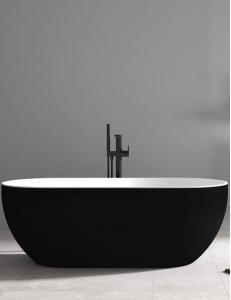 Abber AB9241MB Ванна акриловая отдельностоящая 172х79 см, черный матовый