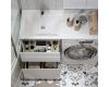Alavann Soft Silver 120 – Тумба с раковиной под стиральную машину, 2 выдвижных ящика