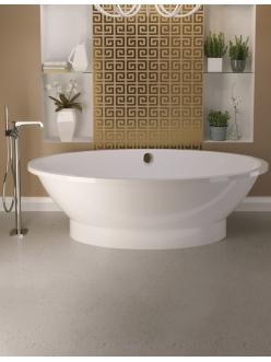 AquaStone Кантри 188 – Овальная отдельностоящая ванна из искусственного камня