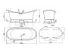 AquaStone Лиона 190х86 – ванна из искусственного камня