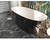 AquaStone Ниагара 160х73 – ванна из искусственного камня на подиуме