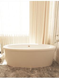 AquaStone Оливия 180х90 – ванна из искусственного камня с экраном