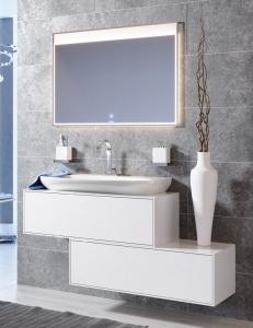 Aqwella Genesis 100 Белый глянец – модульная мебель для ванной