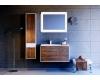 Аквелла Малага 90 Крафт тёмный – комплект мебели для ванных комнат
