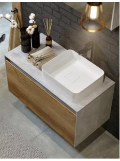 Aqwella Mobi 100 (Моби 100) Подвесная мебель для ванной под накладную раковину