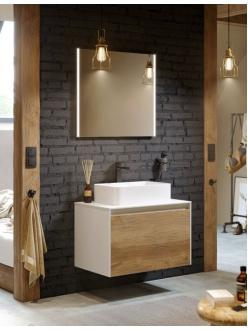 Aqwella Mobi 80 (Моби 80) Подвесная мебель для ванной под накладную раковину