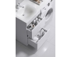 Aqwella Forma 115 FOR01052 Тумба 2 ящика с раковиной под стиральную машину