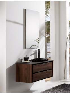 Armadi Art Bocciolo BCE111 – Подвесная мебель для ванной с асимметричной раковиной