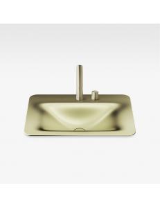 Armani Roca Baia Раковина встраиваемая сверху 66 см с 2 отв., shagreen matt gold