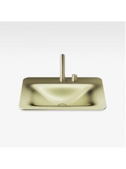 Armani Roca Baia – Раковина встраиваемая сверху 66 см, shagreen matt gold (3270C2R92)