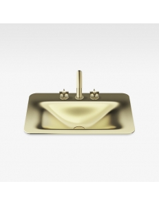 Armani Roca Baia Раковина встраиваемая сверху 66 см с 3 отв., matt gold