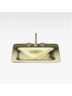 Armani Roca Baia – Раковина встраиваемая сверху 66 см, matt gold (3270C2R83)