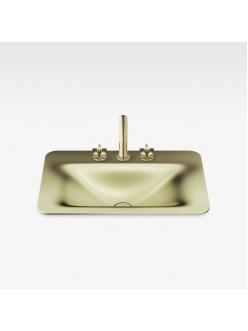 Armani Roca Baia – Раковина встраиваемая сверху 66 см, shagreen matt gold (3270C2R93)