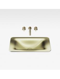 Armani Roca Baia Раковина встраиваемая сверху 66 см, shagreen matt gold