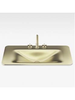 Armani Roca Baia – Раковина встраиваемая сверху 90 см, matt gold (3270C0R83)