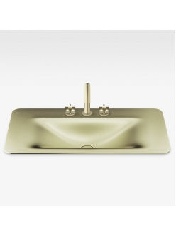 Armani Roca Baia – Раковина встраиваемая сверху 90 см, shagreen matt gold (3270C0R93)