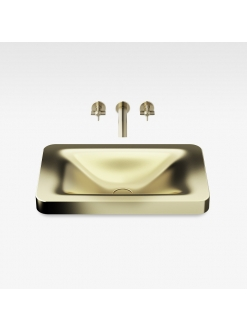 Armani Roca Baia – Раковина встраиваемая сверху 66 см, shagreen matt gold (3270C7R80)