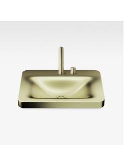Armani Roca Baia – Раковина встраиваемая сверху 66 см, shagreen matt gold (3270C6R92)
