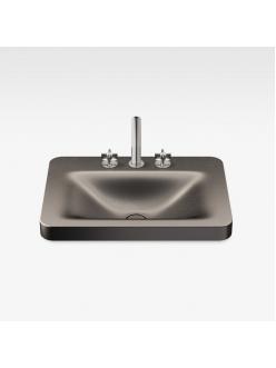 Armani Roca Baia – Раковина встраиваемая сверху 66 см, shagreen dark metallic (3270C6R73)