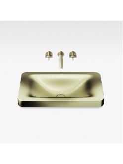 Armani Roca Baia – Раковина встраиваемая сверху 66 см, shagreen matt gold (3270C7R90)