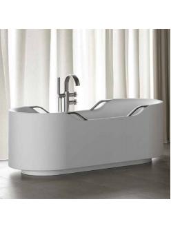 Armani Roca Baia – Ванна отдельностоящая с 4 ручками, белый/хром (248448000)